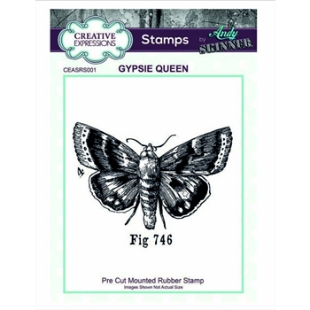 Creative Expressions GYPSIE QUEEN Andy Skinner Cling Stamp ceasrs001
