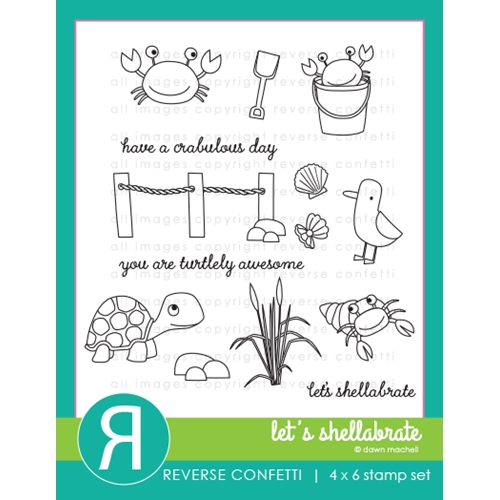 Reverse Confetti LET'S SHELLEBRATE Clear Stamps Preview Image