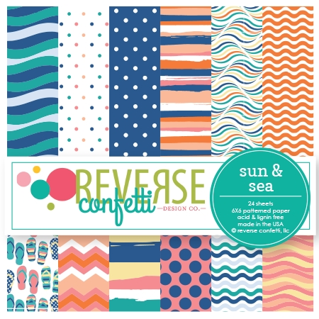 Reverse Confetti SUN AND SEA 6x6 Inch Paper Pad Preview Image