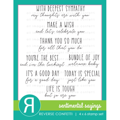 Reverse Confetti SENTIMENTAL SAYINGS Clear Stamps Preview Image