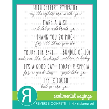 Reverse Confetti SENTIMENTAL SAYINGS Clear Stamps