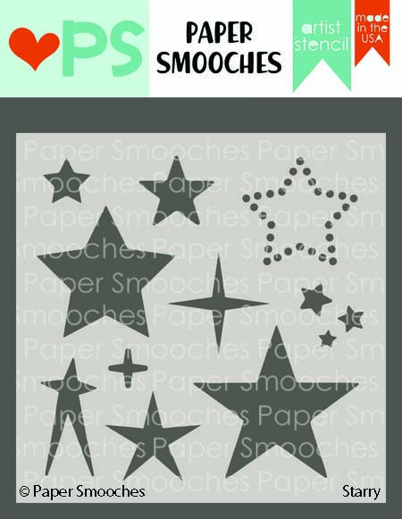 Paper Smooches STARRY Artist Stencil J3AS04