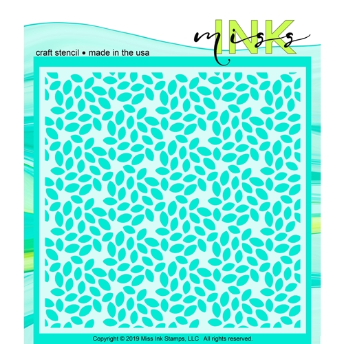 Miss Ink Stamps LEAFY GREEN Stencil 519t12 Preview Image