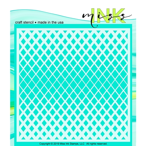 Miss Ink Stamps HALFTONE DIAMONDS Stencil 519t01 Preview Image