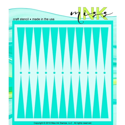 Miss Ink Stamps BACKGAMMON Stencil 519t09 Preview Image