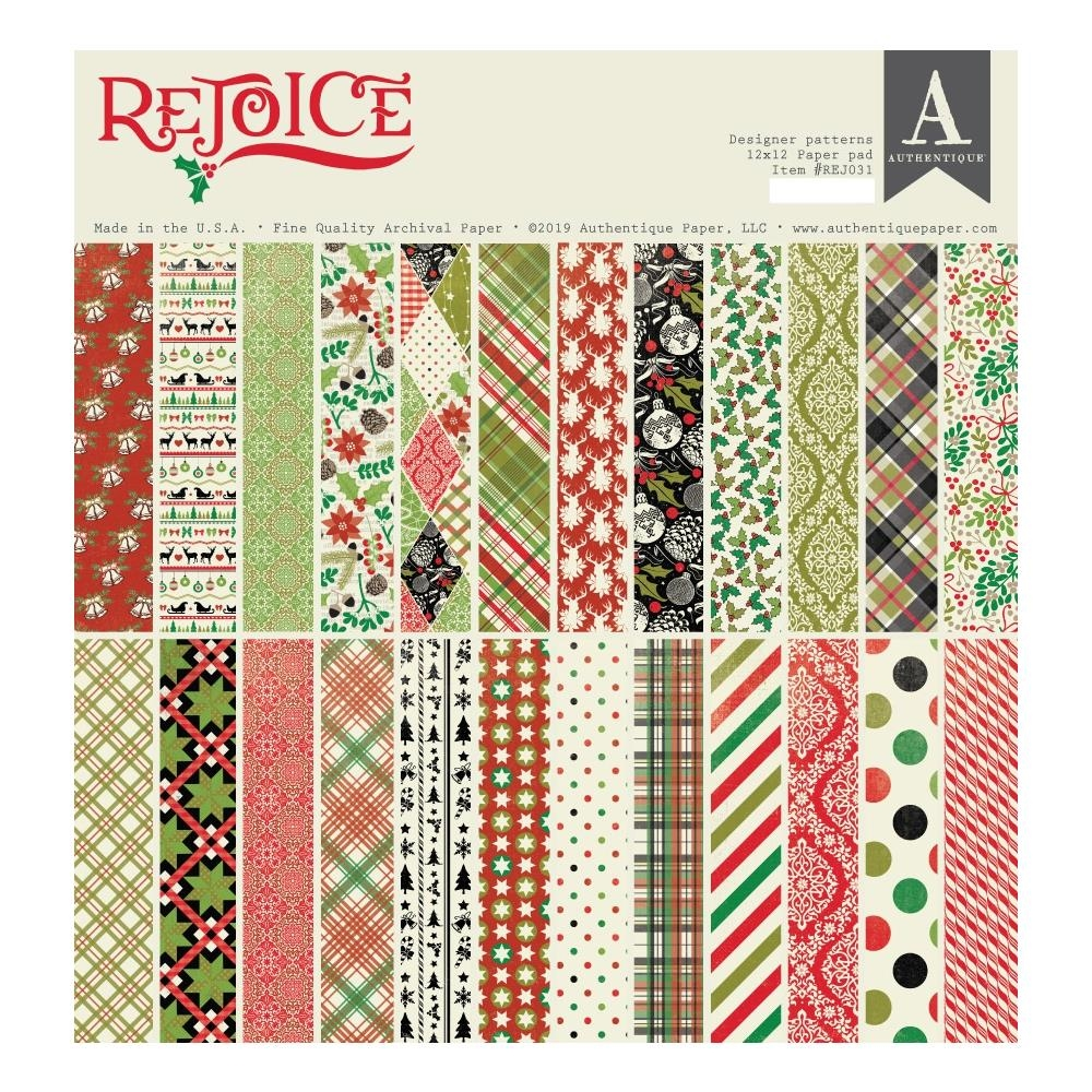 Authentique REJOICE 12 x 12 Paper Pad rej031 zoom image