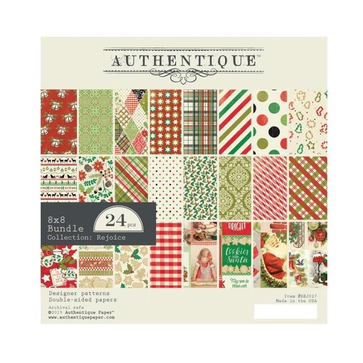 Authentique 8 x 8 REJOICE Paper Pad rej027 zoom image