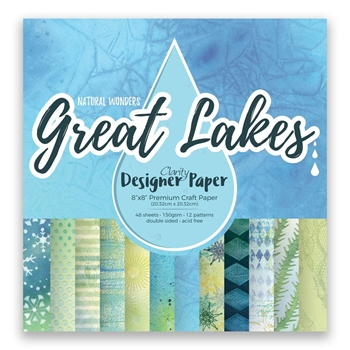 Claritystamp GREAT LAKES 8x8 Designer Paper Pack accca3085188
