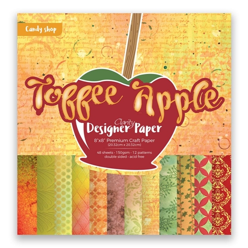 Claritystamp TOFFEE APPLE 8x8 Designer Paper Pack accca3085088 Preview Image