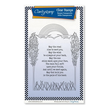 Claritystamp MAY THE ROAD RISE Clear Stamps stawo10703a6
