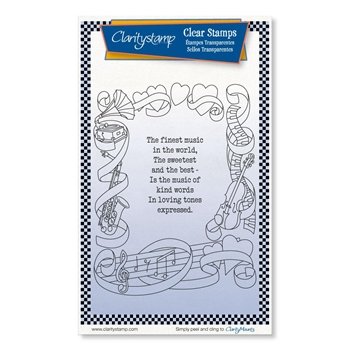 Claritystamp THE FINEST MUSIC Clear Stamps stawo10707a6