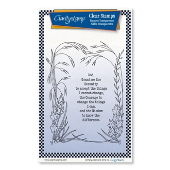 Claritystamp SERENITY PRAYER Clear Stamps stawo10702a6