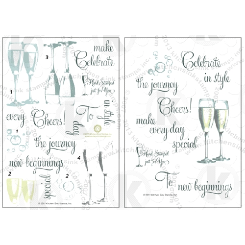 Kitchen Sink Stamps Champagne Celebration