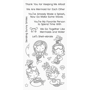 My Favorite Things MERMAID FOR EACH OTHER Clear Stamps CS304