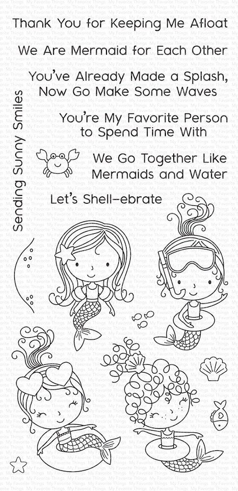 My Favorite Things MERMAID FOR EACH OTHER Clear Stamps CS304 zoom image