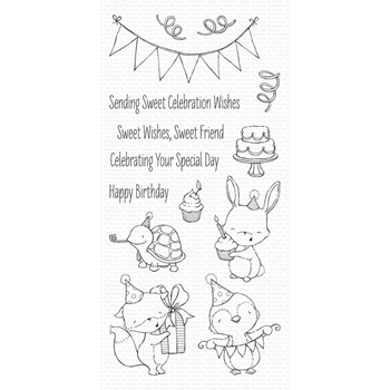 My Favorite Things SENDING SWEET CELEBRATION WISHES Clear Stamps SY11