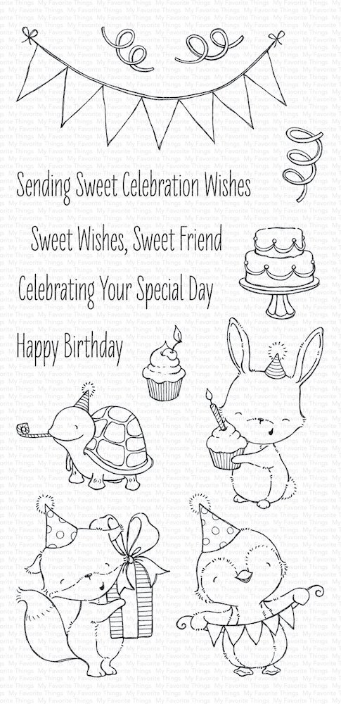My Favorite Things SENDING SWEET CELEBRATION WISHES Clear Stamps SY11 zoom image
