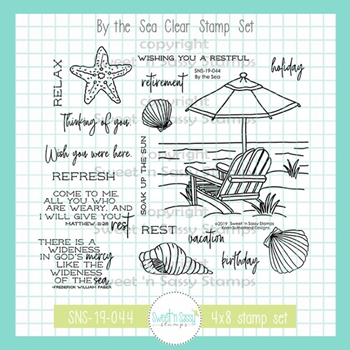 Sweet 'N Sassy BY THE SEA Clear Stamp Set sns-19-044