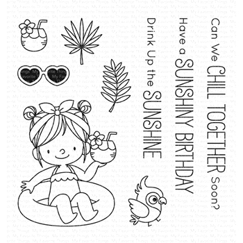 My Favorite Things DRINK UP THE SUNSHINE Clear Stamps BB74