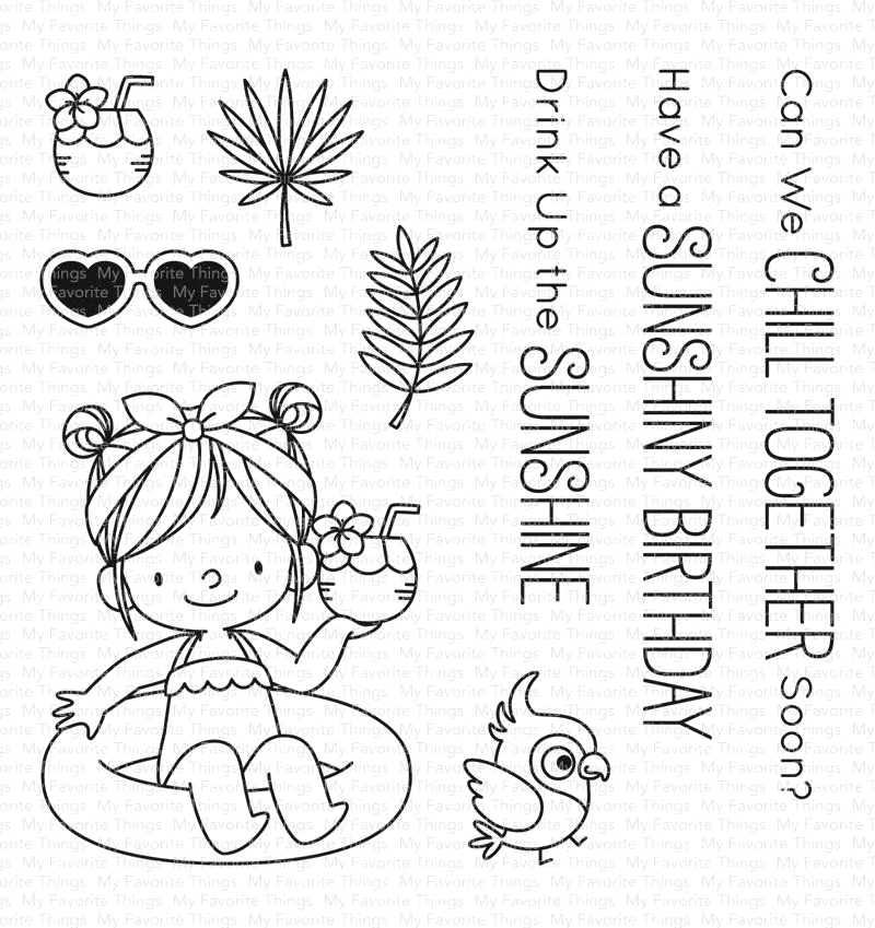 My Favorite Things DRINK UP THE SUNSHINE Clear Stamps BB74 zoom image
