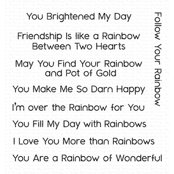 My Favorite Things RAINBOW GREETINGS Clear Stamps CS401
