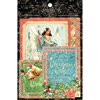 Graphic 45 JOY TO THE WORLD Journaling And Ephemera Cards 4501914