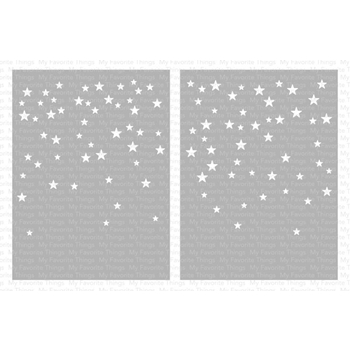 My Favorite Things CARD SIZED STAR CONFETTI Mix-ables Premium Stencils ST120