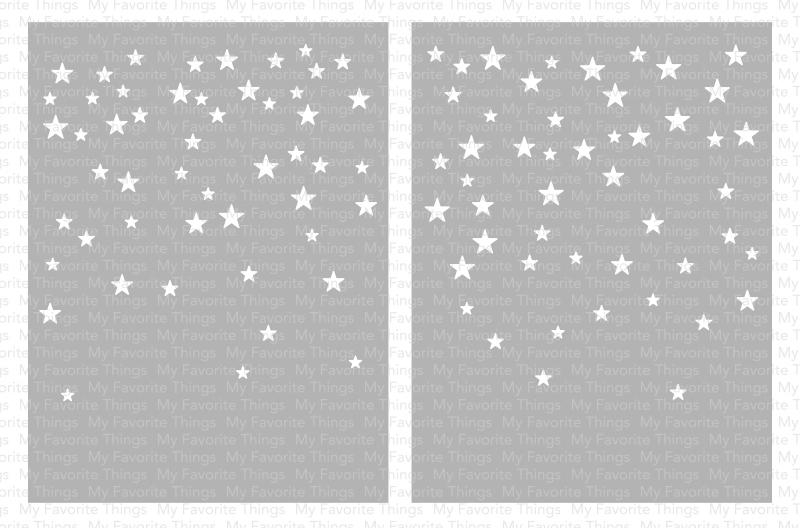 My Favorite Things CARD SIZED STAR CONFETTI Mix-ables Premium Stencils ST120 zoom image