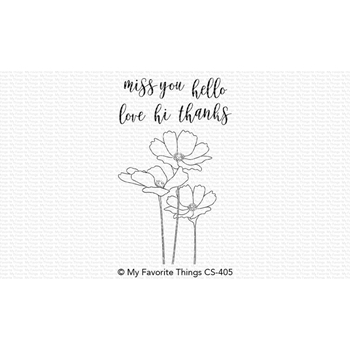 My Favorite Things FLOWERS IN BLOOM Clear Stamps CS405