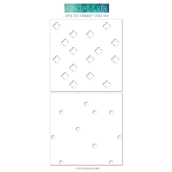 Concord & 9th JOYFUL TILES TURNABOUT Stencils 10633