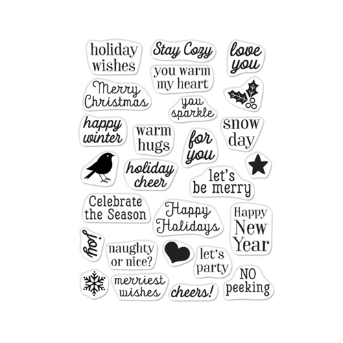 Hero Arts Clear Stamps GREETINGS CHRISTMAS MESSAGES CM379 Preview Image