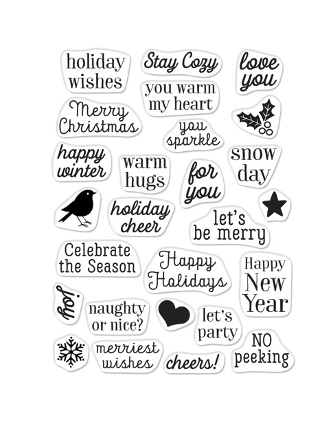 Hero Arts Clear Stamps GREETINGS CHRISTMAS MESSAGES CM379 zoom image