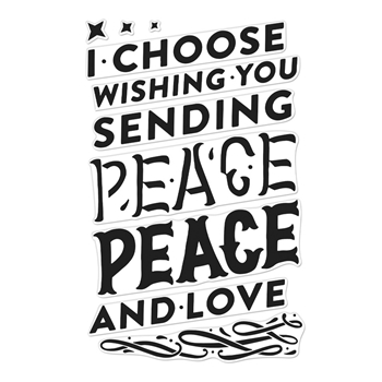 Hero Arts Clear Stamps COLOR LAYERING PEACE CM378
