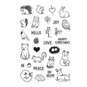 Hero Arts Clear Stamps WINTER FOREST ANIMALS CM377