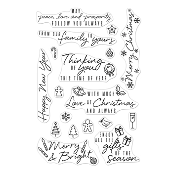 Hero Arts Clear Stamps HOLIDAY MESSAGES AND ICONS CM375