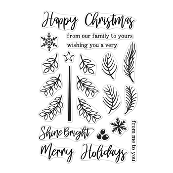 Hero Arts Clear Stamps BUILD A TREE CM376
