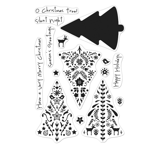 Hero Arts Clear Stamps COLOR LAYERING NORDIC TREE CM374 Preview Image