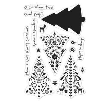 Hero Arts Clear Stamps COLOR LAYERING NORDIC TREE CM374