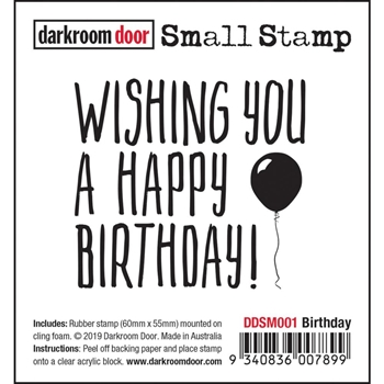 Darkroom Door Cling BIRTHDAY Small ddsm001
