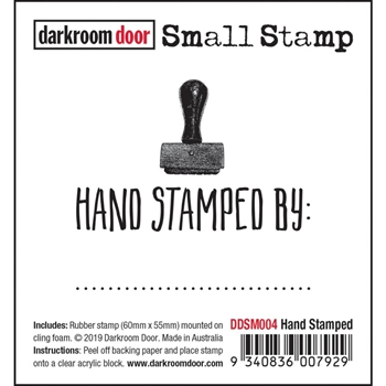 Darkroom Door Cling HAND STAMPED Small ddsm004