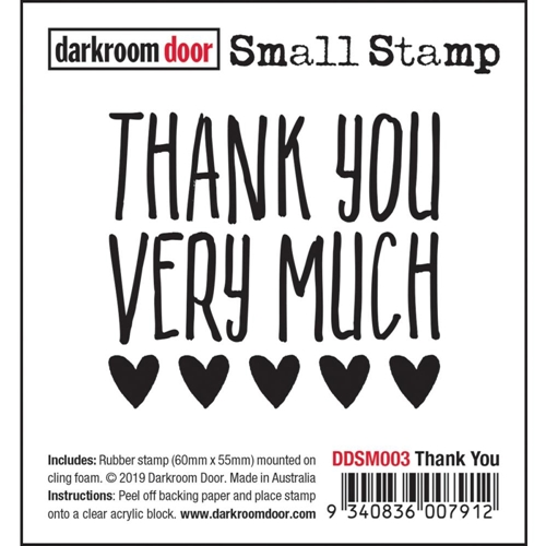 Darkroom Door Cling THANK YOU Small ddsm003 Preview Image