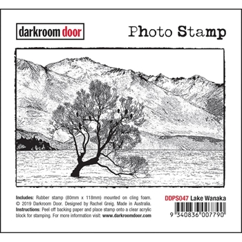 Darkroom Door Cling Stamp LAKE WANAKA Photo ddps047