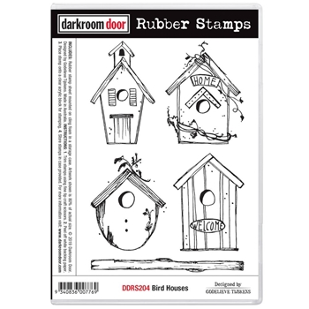 Darkroom Door Cling Stamp BIRD HOUSES ddrs204
