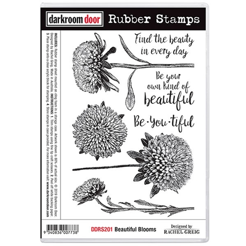 Darkroom Door Cling Stamp BEAUTIFUL BLOOMS ddrs201 Preview Image