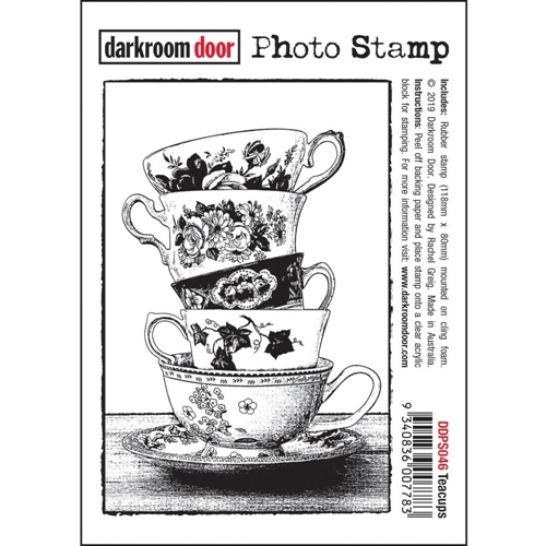 Darkroom Door Cling Stamp TEACUPS Photo ddps046 Preview Image
