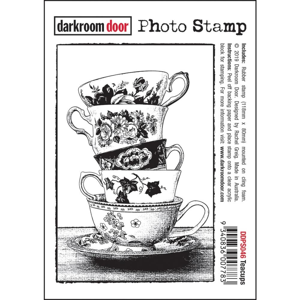 Darkroom Door Cling Stamp TEACUPS Photo ddps046 zoom image