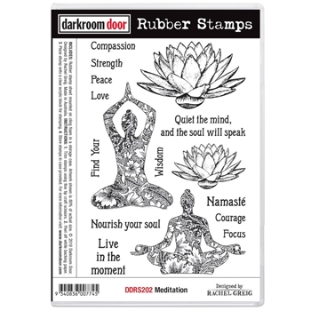 Darkroom Door Cling Stamp MEDITATION ddrs202