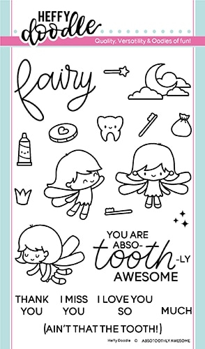 Heffy Doodle ABSOTOOTHLY AWESOME Clear Stamps hfd0146 zoom image