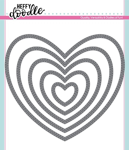 Heffy Doodle STITCHED HEARTS Dies hfd0162 Preview Image