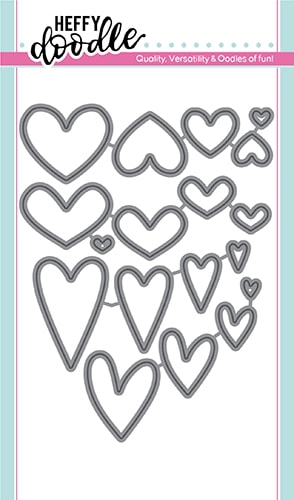 Heffy Doodle WHOLE LOTTA HEARTS Dies hfd0163 Preview Image